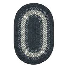 white braided rug oval braided area rug black and white woven wool rug