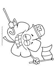 Free, printable shamrock coloring pages for st patrick's day are fun for kids! Shamrock With Irish Flag Coloring Page Free Printable Pdf From Primarygames