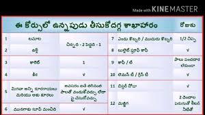 Diabetic Food Chart In Telugu Veeramachaneni 2 Meal Diet Plan Chart Bedowntowndaytona Com