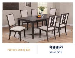 gray contemporary 5 piece dining set hartford rc willey furniture