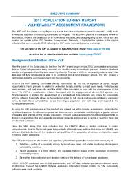Survey Report Document Executive Summary Of 2017 Population Survey