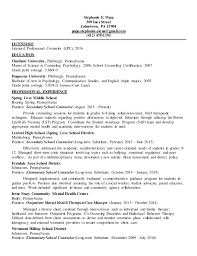 Clinical mental health resume with active licensure (LPC). Stephanie E.  Popp 309 Inez Street Johnstown, PA 15904 popp.stephanie.elena ...