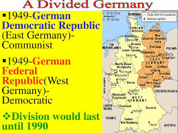 「1949 – The communist German Democratic Republic (East Germany) is formed.」の画像検索結果