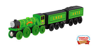 flying scotsman wooden train engine by thomas friends close