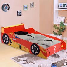 kids racing car bed sd toddler children boys junior wooden bedroom bedframe