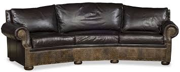 curved leather sofa in elegant curved leather sofas intended for house sofa h95