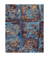 tin ceiling wall hanging this is how the wall hanging looks when complete  on recycled tin ceiling tile wall art with create a wall hanging with antique ceiling tin feltmagnet