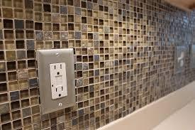small glass tiles square tile backsplash home design ideas concept