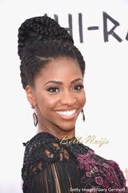 Chi Hair Style naturalhairinspiration teyonah parris goddess braid at the chi 3895 by wearticles.com