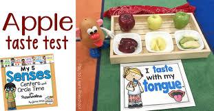 Apple Taste Test An Easy Five Senses Activity For Preschoolers