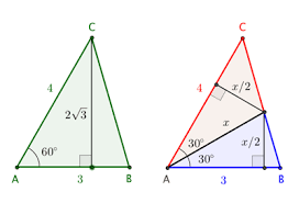 simple geometry question to be proved out trigonometry  two views of triangle abc