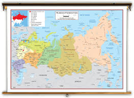 russia political educational wall map from academia maps Russia And Europe Map academia russia political map russia and europe map quiz