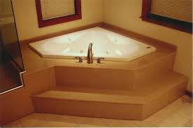 bathroom corner jacuzzi tub with two windows glass door shower area throughout inspirations 3