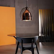 lighting cage.  cage diesel living  cage pendant light large bronze  black and lighting