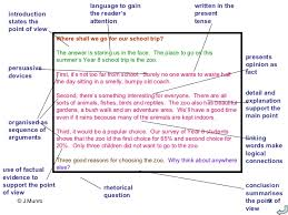 Features of argumentative writing