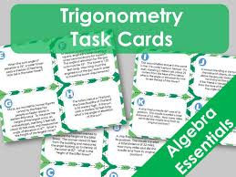 16 trigonometry task cards word problems finding unknown sides and angles