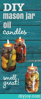 Decorative Oil Jars How To Make These Amazing Mason Jar Oil Candles 85