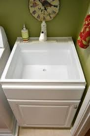 Bathroom Utility Sink Custom Less Pricey Sink Disguised Build A Cabinet Box Around Utility Sink