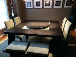 lazy susan for dining table zoom round black dining table with lazy susan