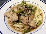 15 minute stir fried chicken   asparagus
