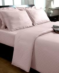 pink egyptian cotton stripe duvet cover and pillowcases 330 tc