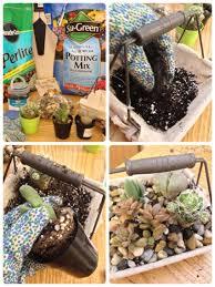 how i made my burlap basket garden supplies potting mix perlite activated charcoal favorite succulents burlap lined basket mini river rocks