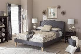 modern style beds. Modren Modern Baxton Studio Fannie French Classic Modern Style Dark Grey Polyester Fabric  Full Size Platform Bed  With Beds N