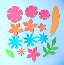 Pattern For Paper Flower Paper Flowers Classroom Craft Activity Easy Make Paper