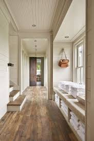 I really like shiplap walls and beadboard ceiling. I also like the wall  color used
