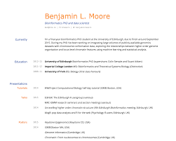 Latex Resume Template Academic Building An Academic CV In Markdown Blmio 24