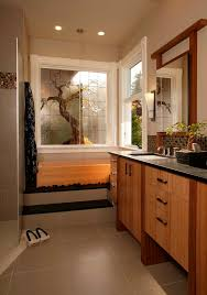 cool stained glass ideas bathroom asian with mosaic tile wall sconce wood vanity