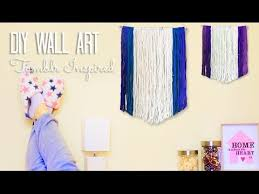 diy roomdecor urban outfitters and tumblr inspired yarn wall art