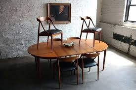 mid century modern dining table and chairs smartness mid century modern round kitchen table