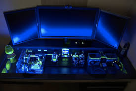pc computer desk mod customization 1