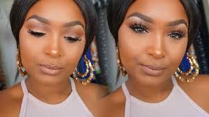 soft glam makeup tutorial brown dark skin you