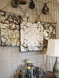 hanging tiles ceiling tiles hanging from large wooden pulleys more glue hanging decorative tiles on wall