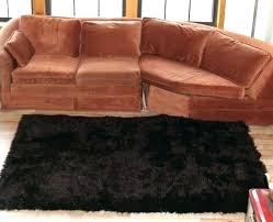 faux fur area rug dark brown fake rugs black uk stylish design black fur area rug