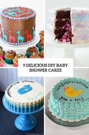 9 delicious diy baby shower cakes cover