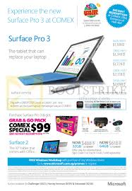 microsoft s comex 2014 price lists flyers promotions deals surface pro 3 tablet surface 2 grab n go pack