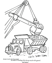 Construction Trucks Coloring Pages Truck Free