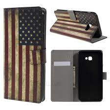 pattern printing leather wallet case for samsung galaxy j4 vintage american flag 1