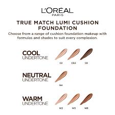 True Match Foundation Colour Chart Loreal Paris True Match Lumi Cushion Foundation C5 5 Natural Tan