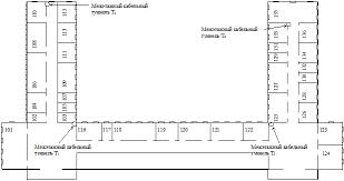 Курсовая работа Проектирование локальной вычислительной сети  Таблица 1 Перечень помещений