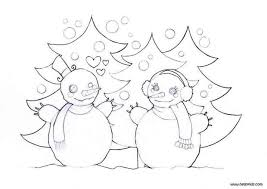 Small Picture Snowman in love coloring pages Hellokidscom