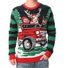 Ugly Christmas Sweater Mens How We Roll Reindeer in Jeep Light Up Sweatshirt Men\u0027s Sweaters - Sears