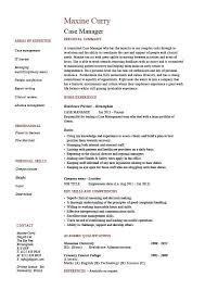 Case Manager Resume, Template, Sample, Example, Job Description, Cv ...