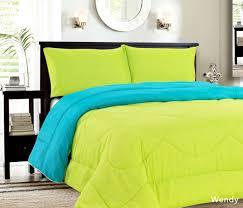 down alternative reversible comforter turquoise lime down alternative reversible comforter turquoise lime