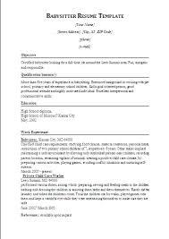 Resumes For Babysitters 12 Babysitter Resume Templates Free Printable Word Pdf Sample