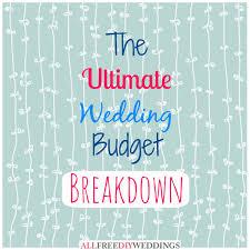 wedding planning on a budget wedding planning wedding budget breakdown allfreediyweddings com