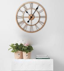 copper metal og skeleton wall clock